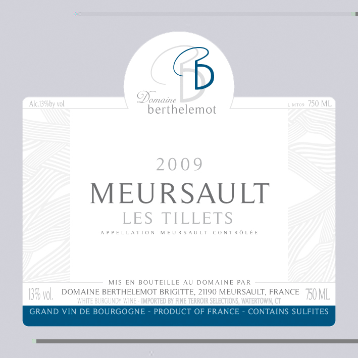 """Domaine Berthelemot Meursault """"Les Tillets"""" Image"""