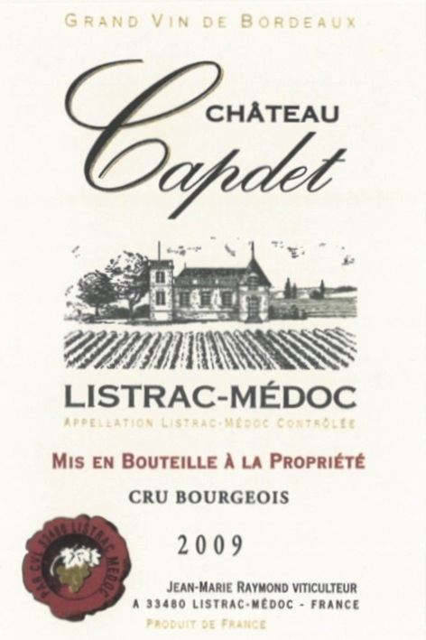 Chateau Capdet Cru Bourgeois AOC Listrac Medoc Image