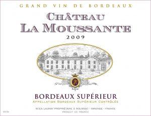 Château La Moussante Bordeaux Supérieur Red Image