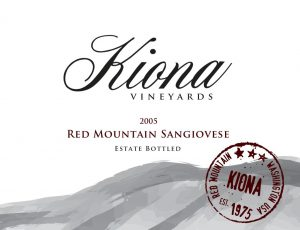Kiona Estate Red Mountain Sangiovese Image