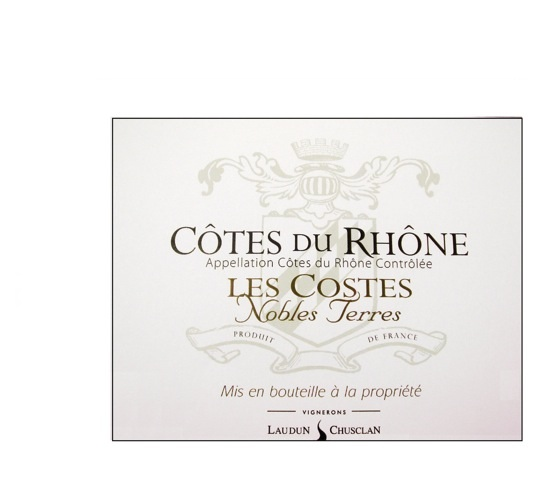 Laudun Chusclan AOC Côtes du RhôneLes Costes Nobles Terres Red Image
