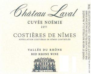 Chateau Laval Cuvée Noémie AOC Costières de Nîmes Image
