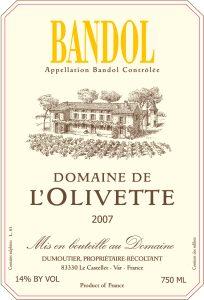 Domaine de l'Olivette Bandol Rosé Image