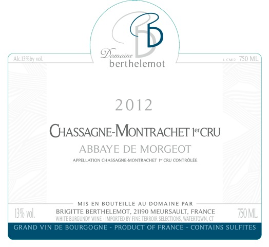 Domaine Berthelemot Chassagne-Montrachet Abbaye de Morgeot 1er Cru Image