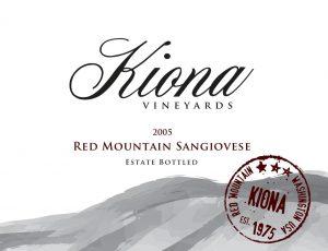 Kiona Estate Red Mountain Sangiovese Image