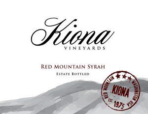Kiona Estate Red Mountain Syrah Image