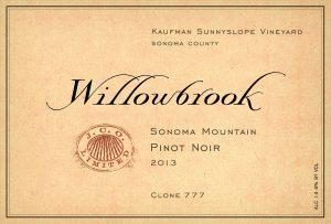 Willowbrook Kaufman Sunnyslope Sonoma Mountain Pinot Noir Image