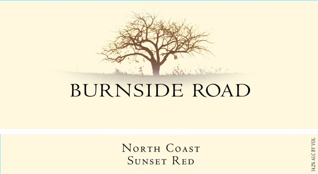 Burnside Road Sunset Red Image